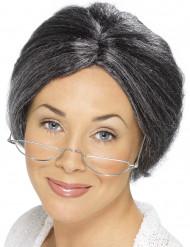 Parrucca da nonna brizzolata donna