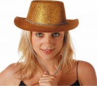 Cappello cowgirl oro paillettes