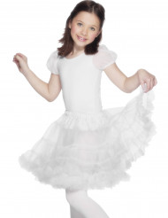Gonna bianca trasparente bambina