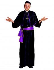 Costume prete nero e viola uomo