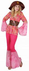 Costume Hippy vintage rosa donna