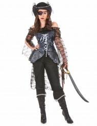 Costume da pirata con pantaloni per donna