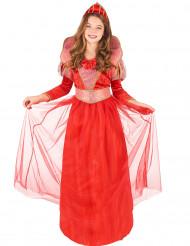 Costume regina rossa medievale bambina