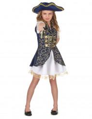 Costume blu scuro pirata bambina