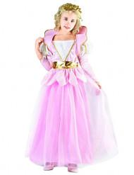 Costume principessa bambina rosa e oro