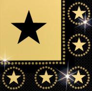 Tovaglioli neri e oro con stelle