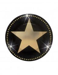 8 piatti stelle dorate