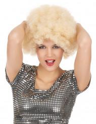 Parrucca afro/disco/ clown bionda donna