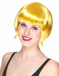 Parrucca cabaret gialla donna