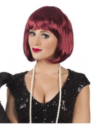 Image of Parrucca cabaret ocra donna