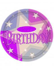8 piatti happy birthday