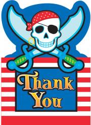 Biglietto di ringraziamento pirata