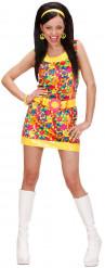 Costume corto Hippy floreale donna