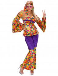 Costume fiorito da donna hippie