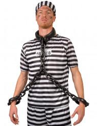 Catena da prigioniero con collare e manette
