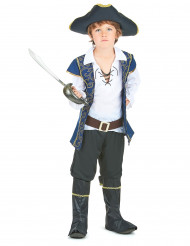 Costume pirata blue e oro per bambino