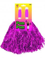 Pompon viola metallici
