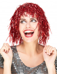 Parrucca metallica rossa adulto