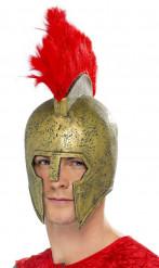 Elmo da gladiatore con pennacchio adulto