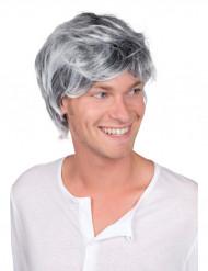 Parrucca brizzolata uomo