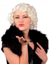 Parrucca biondo platino donna