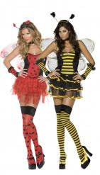 Costume coppia coccinella e ape