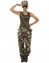 Costume militare con berretto per donna