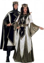 Costume coppia medievale Crociate deluxe