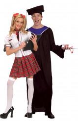 Costume coppia di studenti laureati