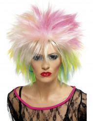 Parrucca corta multicolore punk donna