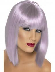 Parrucca corta viola pallido donna