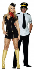 Costume coppia pilota e hostess dell