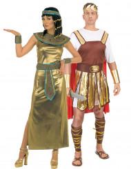 Costume coppia Cleopatra e imperatore romano