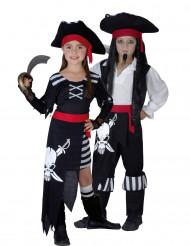 Costume coppia pirati terrificanti per bambini