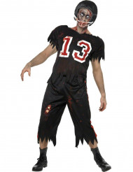 Costume zombie giocatore football americano uomo Halloween