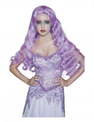 Parrucca lunga gotica viola Halloween