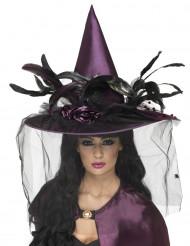 Cappello viola da strega