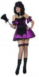 Costume soubrette gotico sexy donna