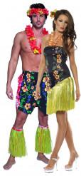 Costumi coppia luau hawaiani
