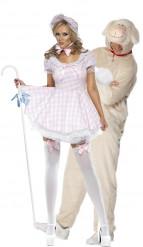 Costume coppia pastorella e pecora adulto