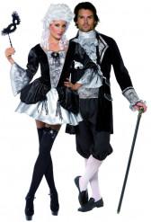 Costume coppia barocca vampiri Halloween