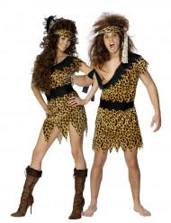 Costume coppia di primitivi delle caverne