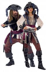 Costume da coppia di pirati deluxe