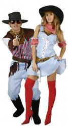 Costume coppia cowboy e cowgirl