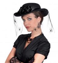 Cappello velato con regnatela donna