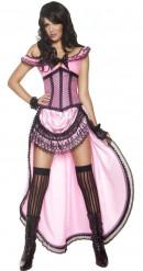 Costume ballerina di saloon sexy donna