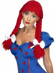 Image of Parrucca intrecciata rossa donna
