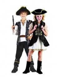 Costume coppia pirati eleganti bambini