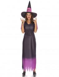 Costume da strega nero e viola per donna