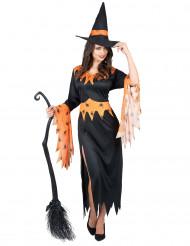 Costume da strega con ragni per donna
